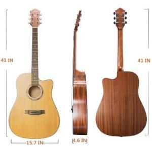 Ranch Acoustic Guitar 41 ″ Cutaway Guitar