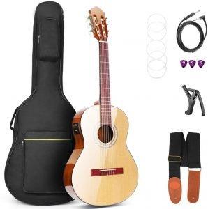 Cutaway Acoustic Guitar Electric 36 Inch 3/4 Acoustic Guitars Beginner Kit